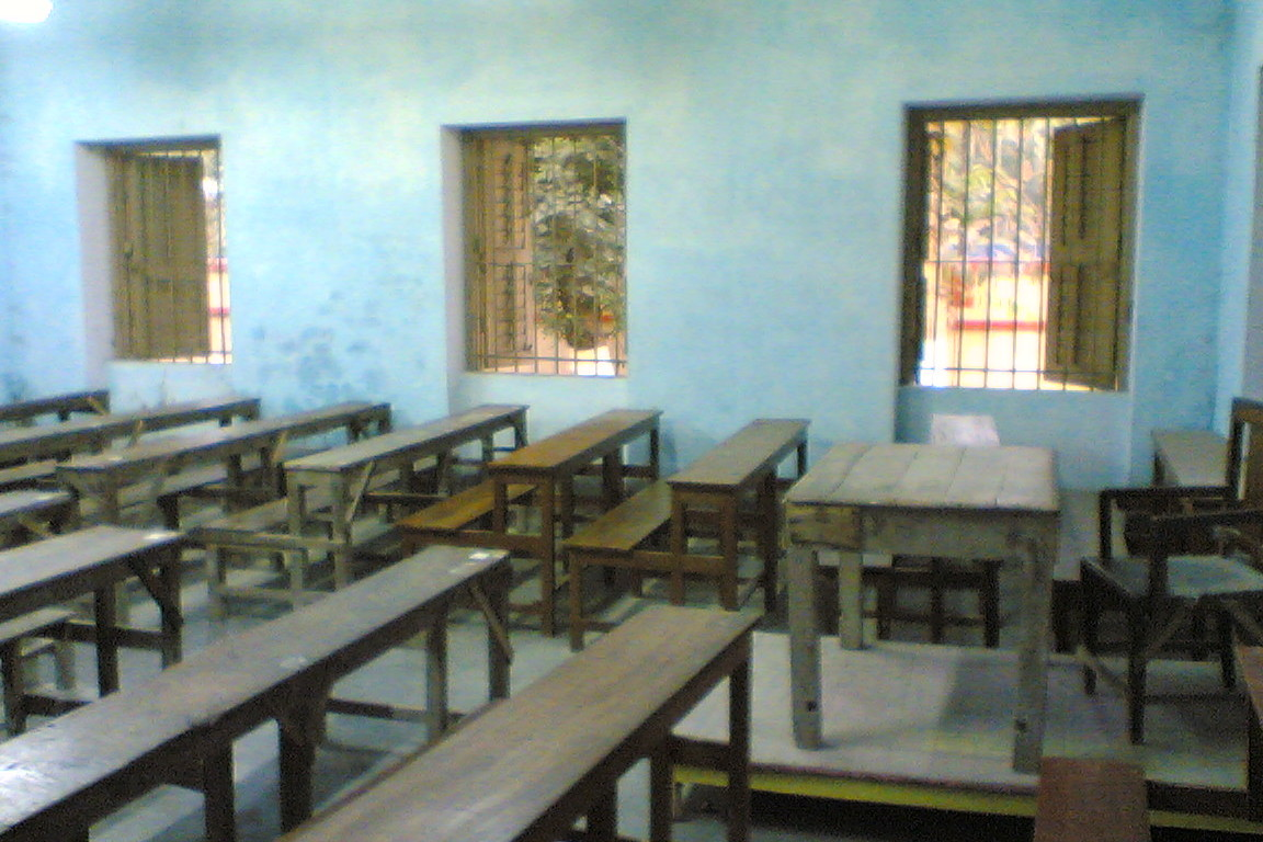 An old classroom of the school