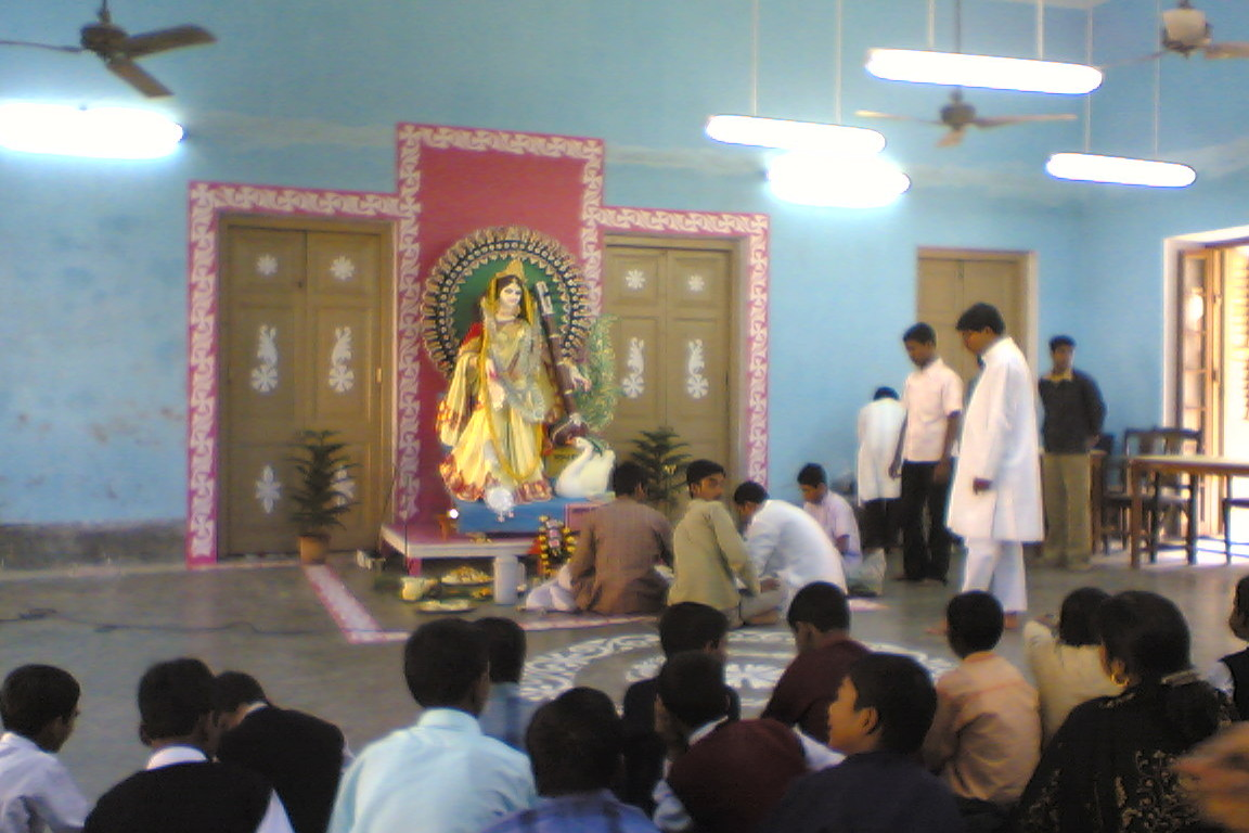 Saraswati Puja at the school